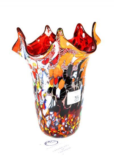 Nube – Murano Glass Vase Fantasy Red