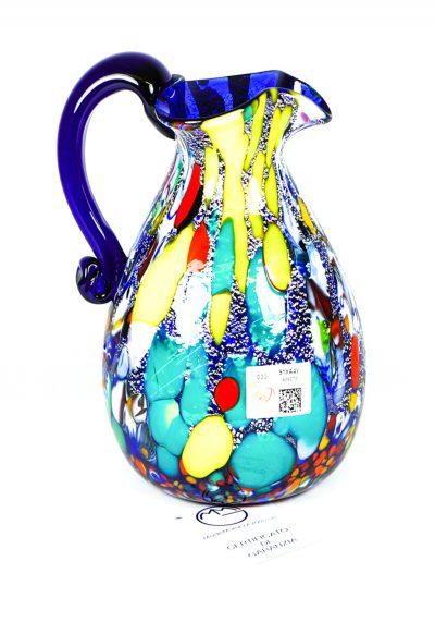 Brocca Fantasy Blu In Vetro Murano – Made Murano Glass