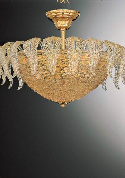 Joseph – Exclusive Ceiling Lamp 3 Lights In Murano Glass – Venetian Glass Lamps