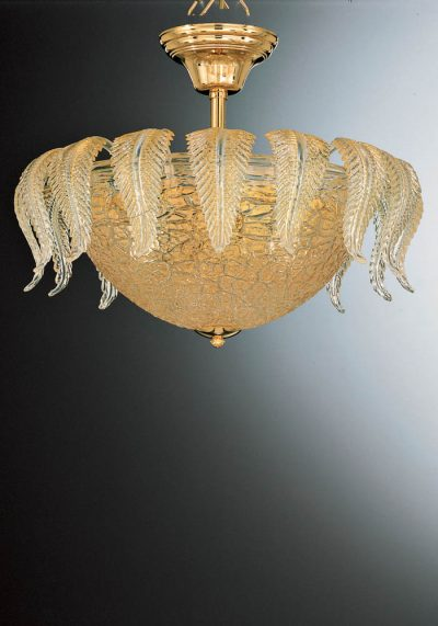 Exclusive Ceiling Lamp 3 Lights In Murano Glass – Venetian Blown Glass