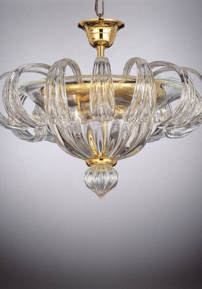 Exclusive Ceiling Lamp 3 Lights In Murano Glass – Murano Crystals
