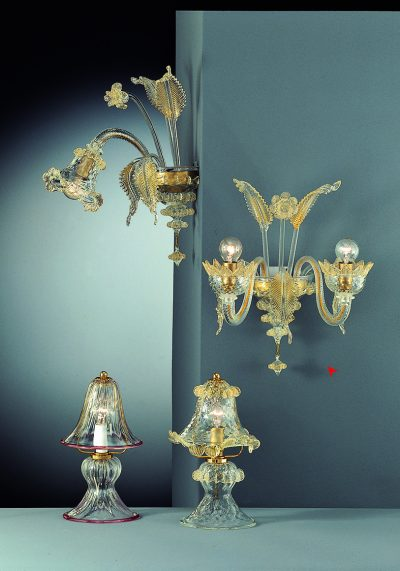 Wall Lamp Murano Glass 2 Lights – Murano Art