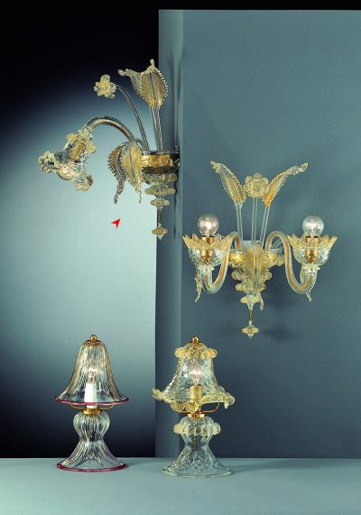 Wall Lamp Murano Glass 1 Light – Venetian Glass Lamps
