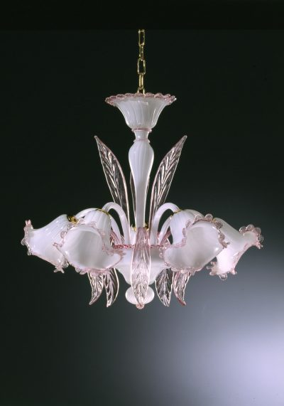 """White Chandelier """"Tiepolo"""" With 5 Lights"""
