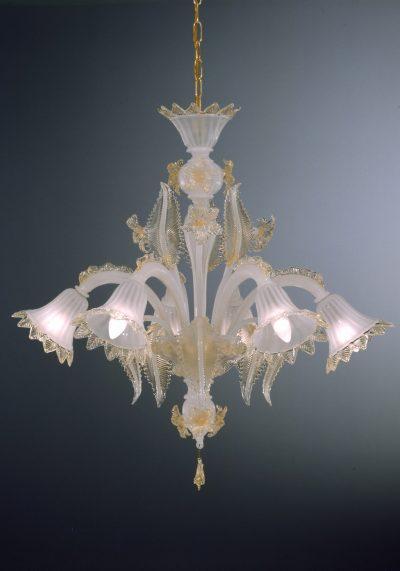 "Glass Chandelier ""Raffaele"" With 6 Lights"