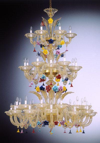 "Venetian Chandelier ""Monte Carlo"" On Three Floors With 24+12+6 Lights"