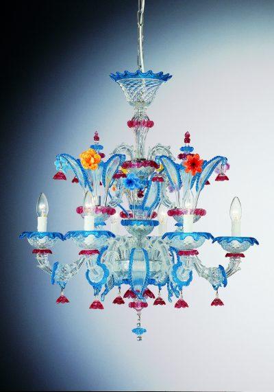"Chandelier Murano""Rezzonico"" With 6 Lights"