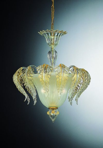 Exclusive Ceiling Lamp 3 Lights In Murano Glass