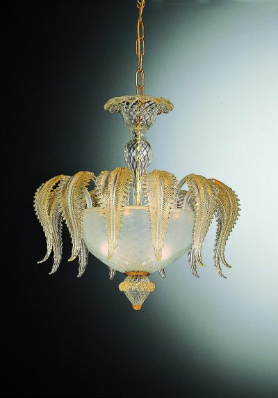 Exclusive Ceiling Lamp 3 Lights In Murano Glass – Venetian Glass Lamps