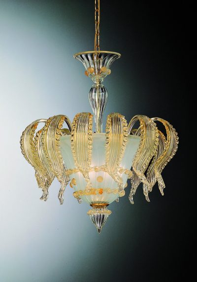 Lucy – Exclusive Ceiling Lamp 3 Lights In Murano Glass – Venetian Blown Glass
