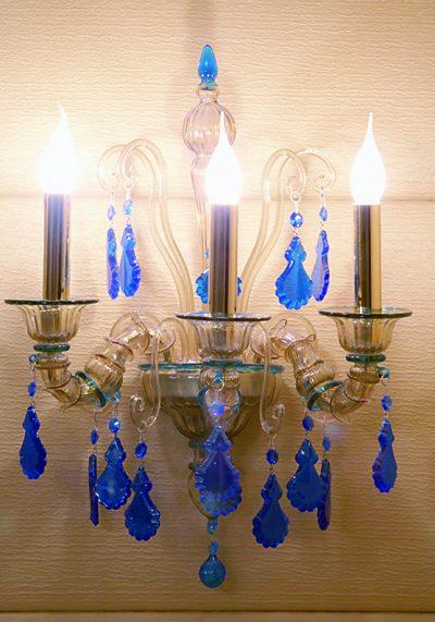 Wall Lamp Rezzonico 3 Lights In Murano Glass