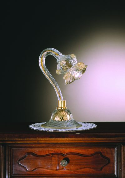Venetian Glass Lamps In Gold 24 Carats – Murano Collection
