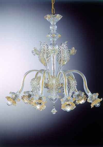 "Murano Glass Chandelier ""Polipo"" With 6 Lights – Murano Glass"