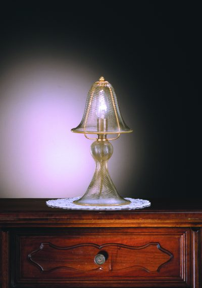"""Venetian Glass Lamps """"LUME"""" In Gold 24 Carats – Murano Collection"""