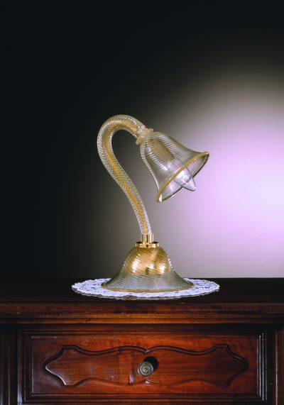 "Venetian Glass Lamps ""LUME"" In Gold 24 Carats – Murano Art"