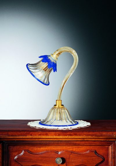 """Venetian Glass Lamps """"LUME"""" In Gold 24 Carats"""