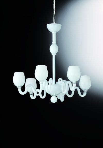 "Murano Glass Chandelier ""Barnaba"" With 6 Lights"