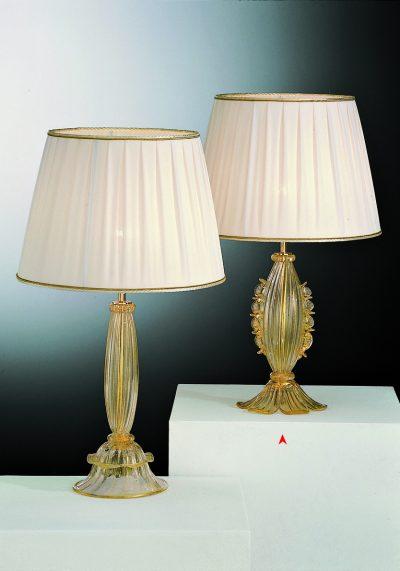 Arkansas – Venetian Glass Lamps With Gold 24 Carats – Murano Art Glass