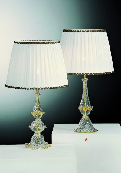 South Dakota – Venetian Glass Lamps With Gold 24 Carats – Murano Art Glass
