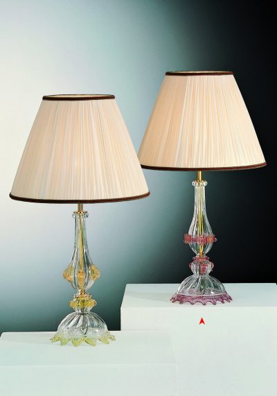 Venetian Glass Lamps With Gold 24 Carats – Venetian Blown Glass