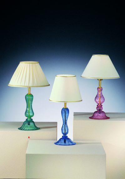 Murano Glass Green Table Lamp – Venetian Glass Lamps