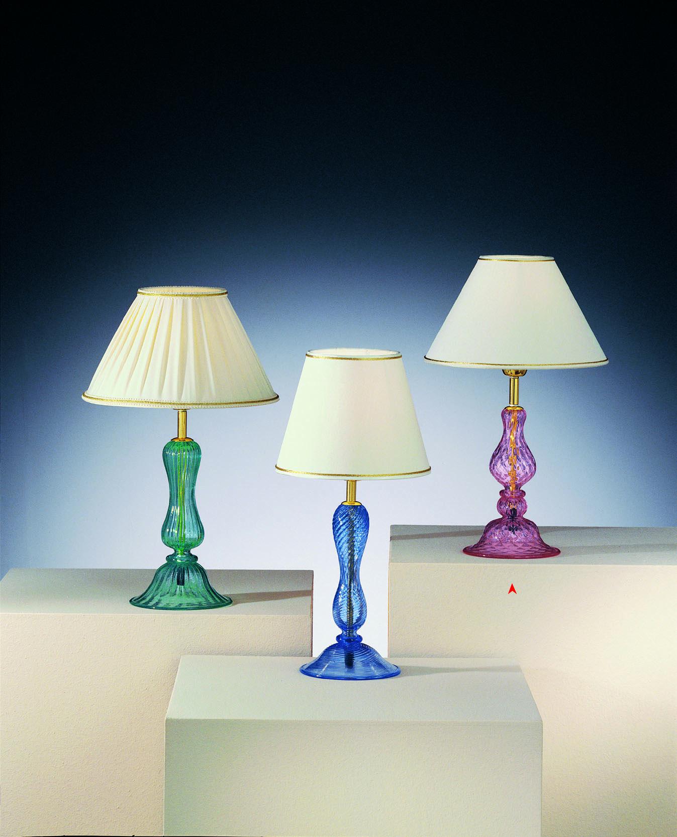 Lampada Da Tavolo In Vetro Murano Rosa Made Murano Glass