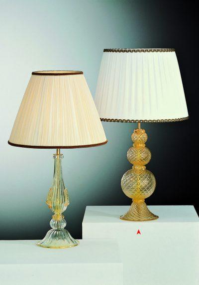 North Dakota – Venetian Glass Lamps With Gold 24 Carats
