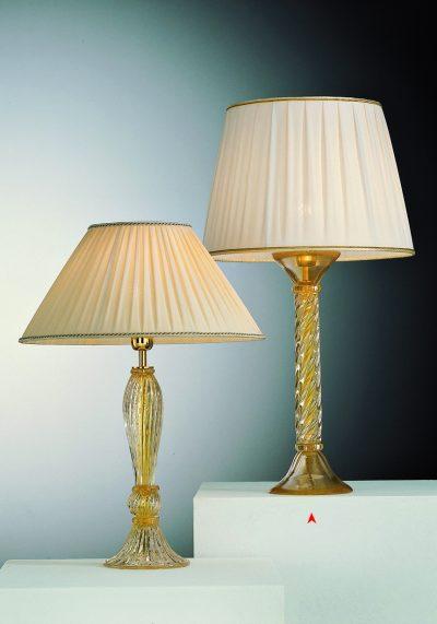 Venetian Glass Lamps All In Gold 24kt