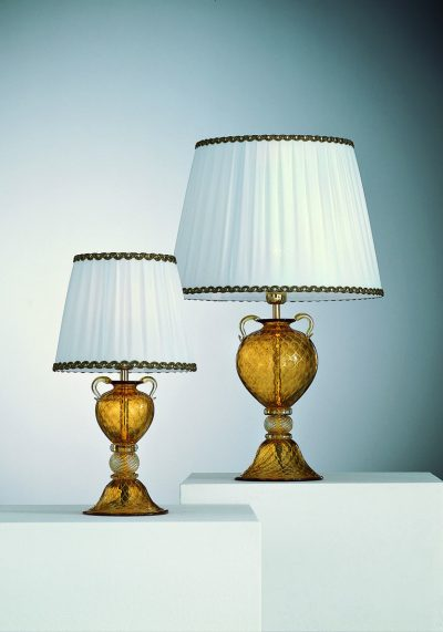 2 Murano Glass Lamps With Gold 24 Carats – Murano Art