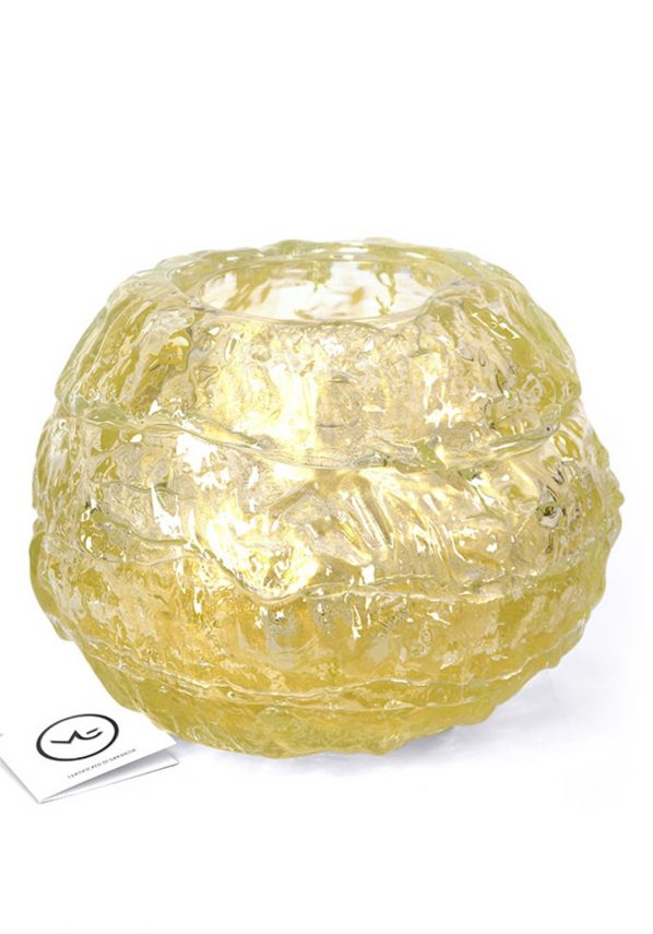 The Oval - Murano Glass Blown Vase Gold Leaf 24kt