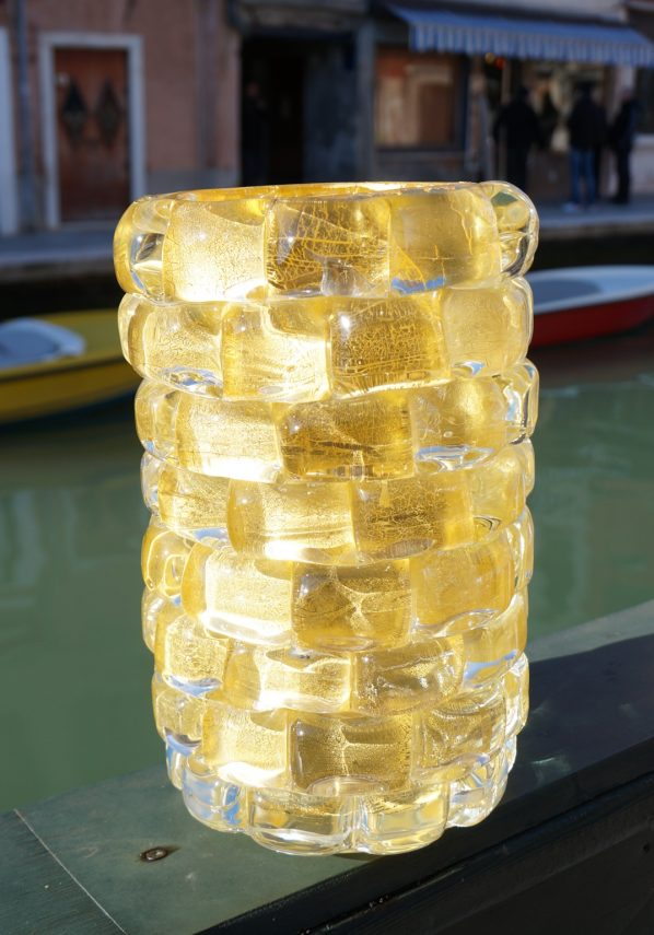 The Wall - Murano Glass Vase Gold Leaf 24kt