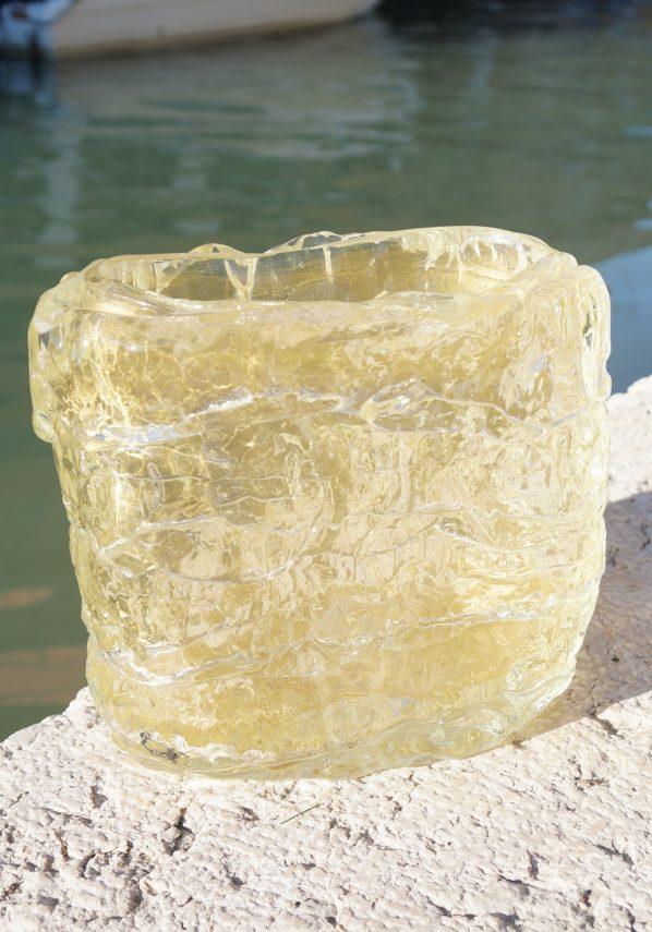 The Glacier - Murano Glass Vase Gold Leaf 24kt