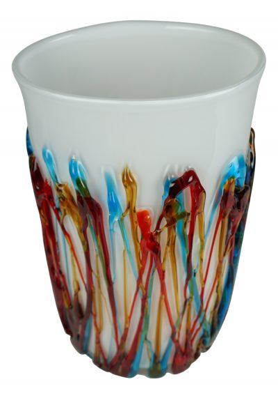 Dolomiti - White Murano Glass Vase