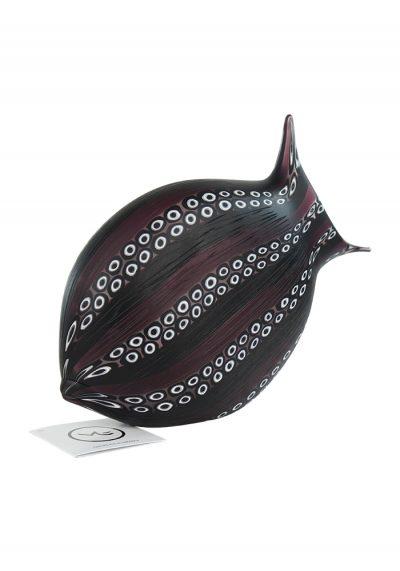 Sculpture Black Fish With Murrina