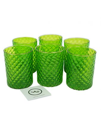 Union - Set Of 6 Drinking Glasses Green