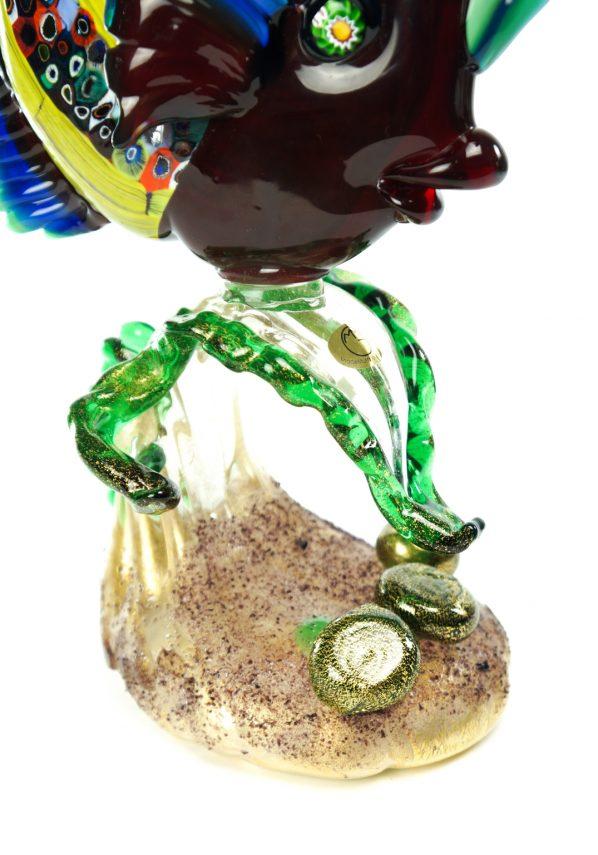 Murano Sculpture Tropical Fish on Seaweed