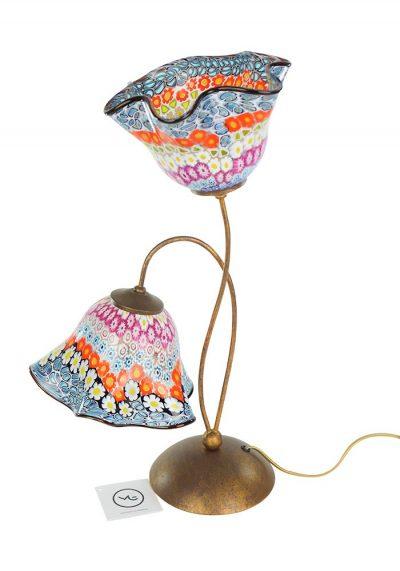 Susy – Murano Glass Table Lamp Murrina Millefiori