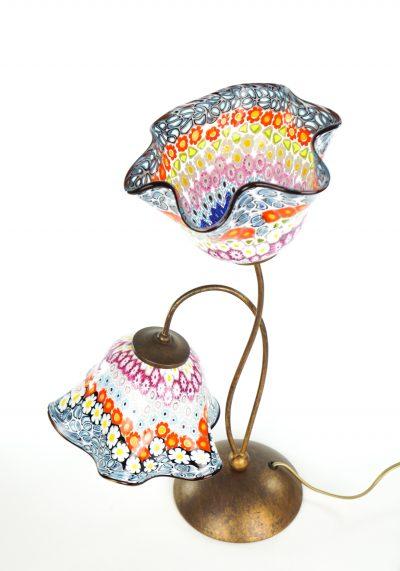 Susy - Murano Glass Table Lamp Murrina Millefiori
