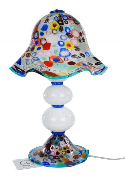 Fredy – Murano Glass Table Lamp Murrina Millefiori