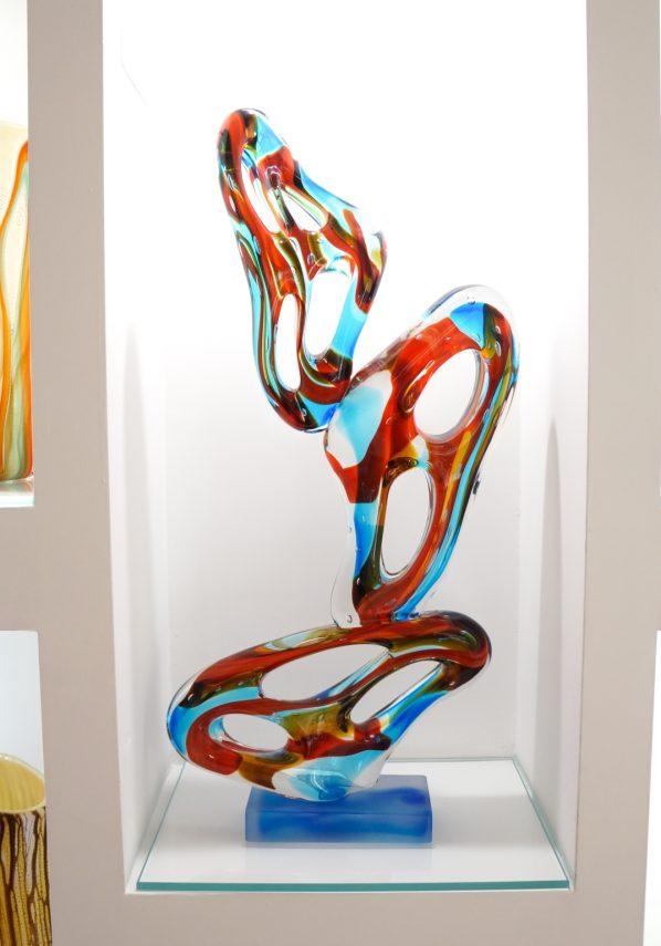 Forato - Multicolored Abstract Sculpture In Murano Glass