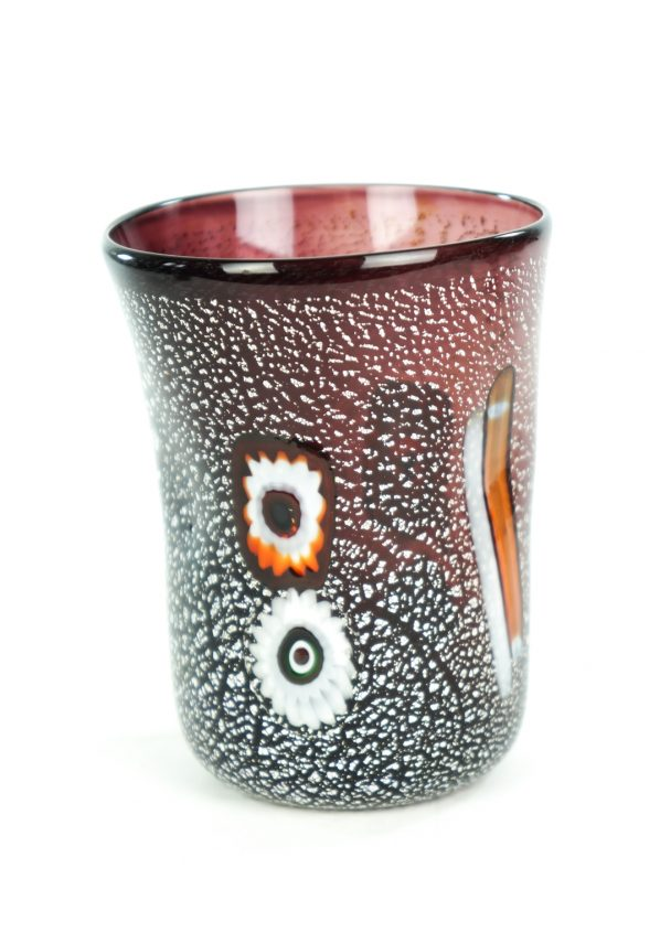 Night - Set Of 6 Amethyst Murano Drinking Glasses