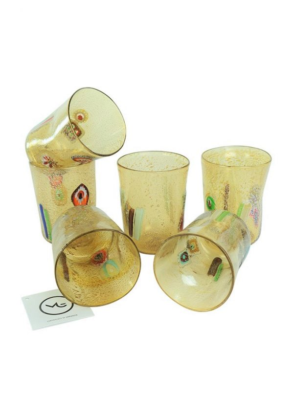 Smoke - Set Di 6 Bicchieri Fumè In Vetro Murano Fumè Murano Glass