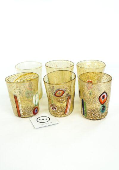 Smoke - Set Of 6 Fumè Murano Drinking Glasses