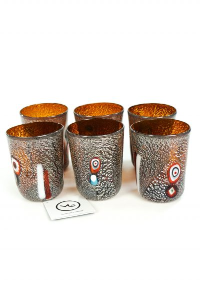 Land - Set Of 6 Tobacco Murano Drinking Glasses