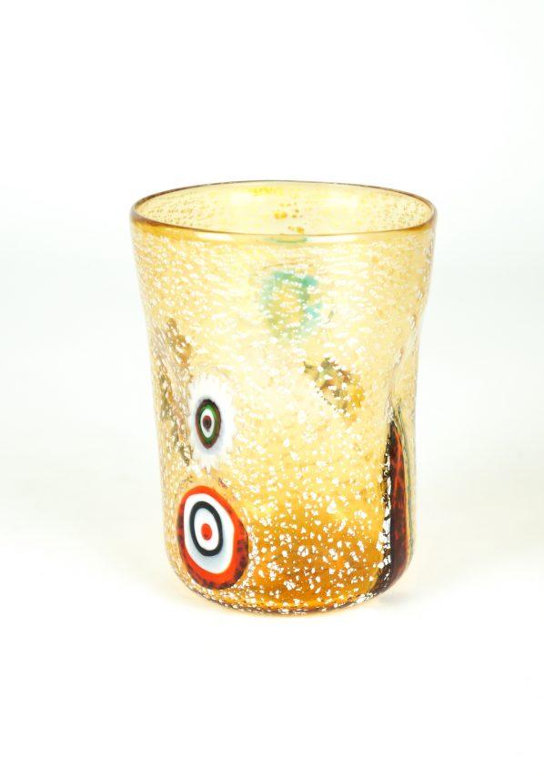 Cleo - Set Of 6 Amber Murano Drinking Glasses