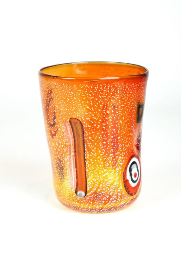 Maui - Set Of 6 Red Murano Drinking Glasses