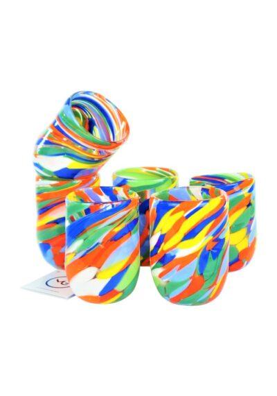 Missoni – Set Di 6 Bicchieri Multicolore In Vetro Murano