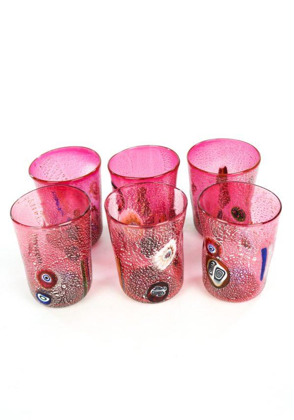 Motivation - Set Of 6 Rubin Murano Drinking Glasses
