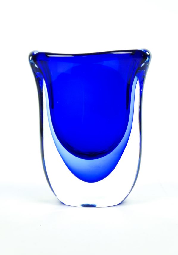 Shadow - Blue Sommerso Murano Glass Vase