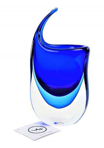 Uncin – Vaso Vetro Murano Sommerso Blu